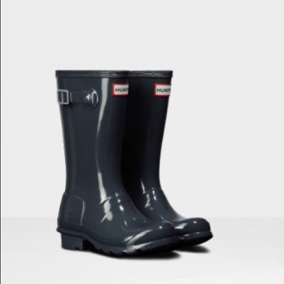 Hunter rain boots original short gloss sz 10 slate